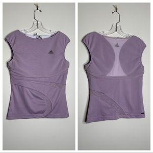Adidas Clima365 Lavender Cap Sleeve Sz 8